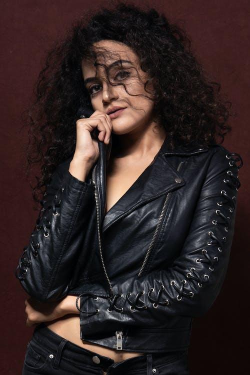 Photo Of Woman Wearing Black Leather Jacket