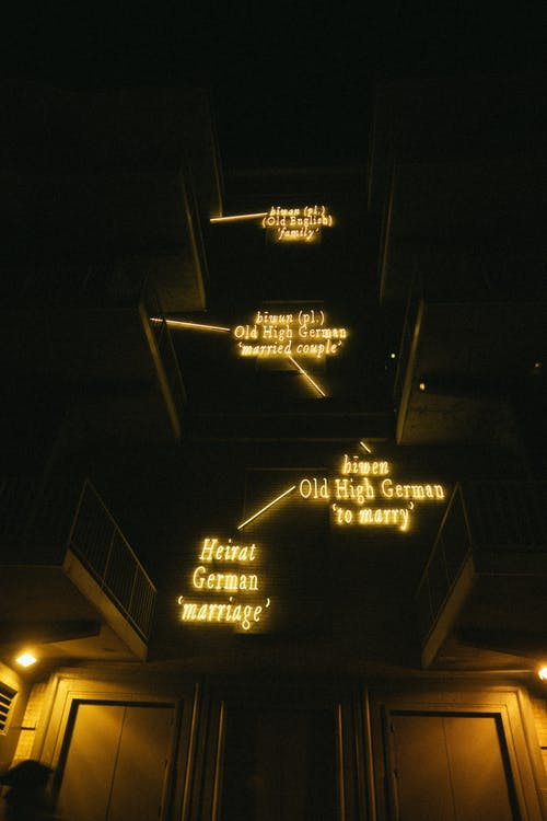Yellow Neon Light Signages