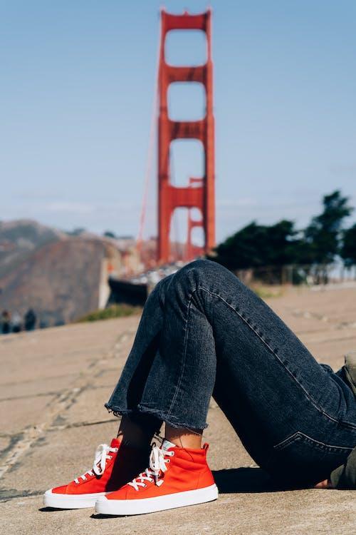 ジーンズ, スタイル, スニーカー, ファッションの無料の写真素材