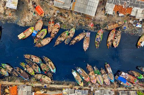 Immagine gratuita di acqua, aereo, banchina, barche