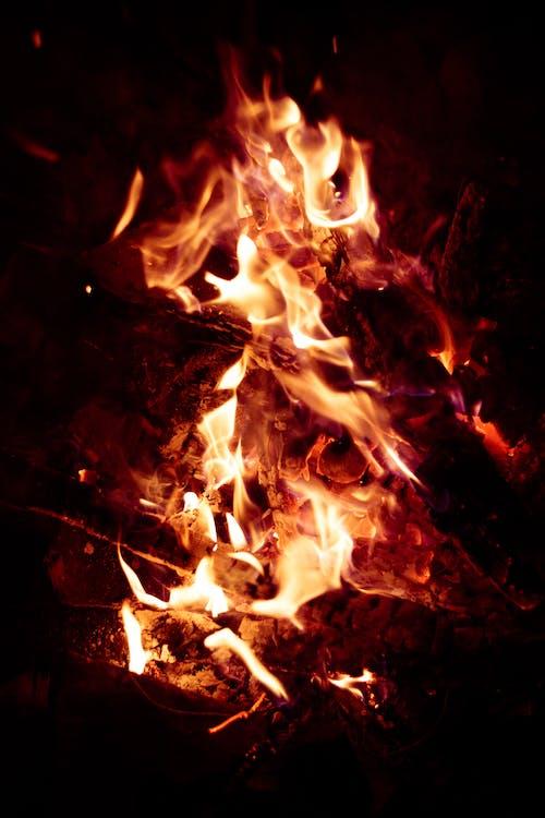 晚上, 火, 火焰 的 免费素材照片
