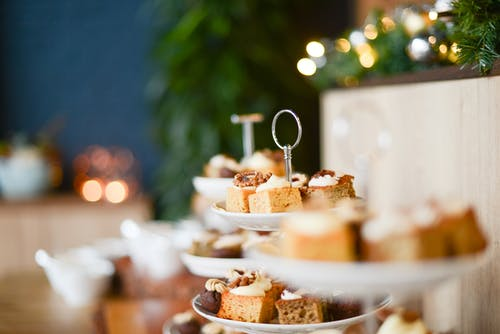 Baked Cakes on Top of Cake Stands