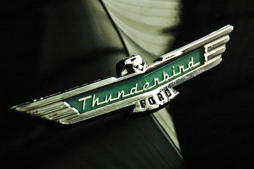 Free stock photo of old car thunderbird