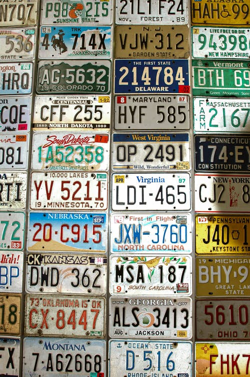 Free stock photo of car plate