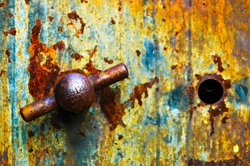 Free stock photo of safe rust