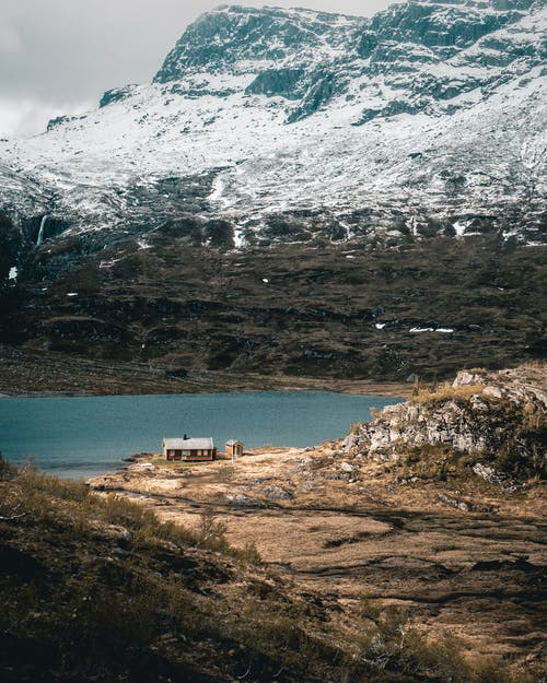 Fotobanka sbezplatnými fotkami na tému chatka, dom, hora, horské jazero