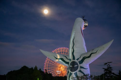 Free stock photo of japan, night, osaka, Osaka expo park