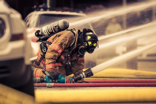 Free stock photo of editorial, fire fighter, fire hose, firefighter