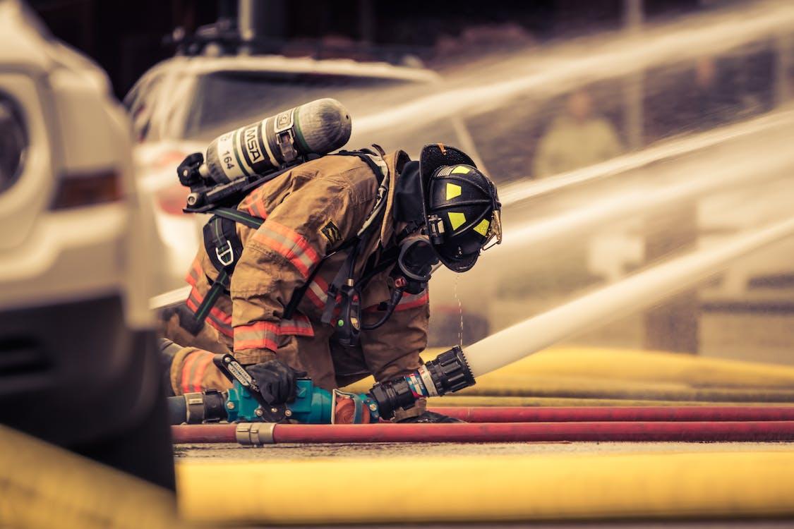 editorial, fire fighter, fire hose