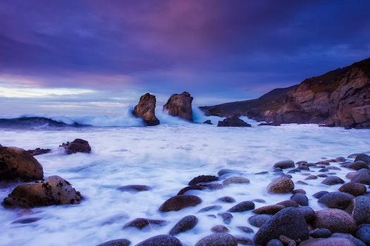 Free stock photo of sea, dawn, landscape, beach