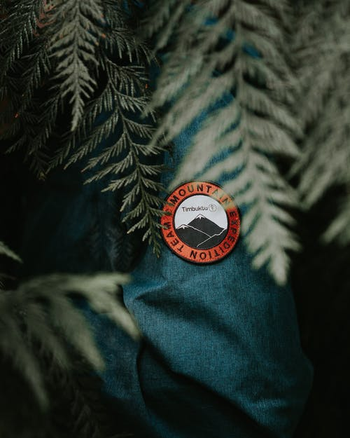 Selective Photography of a Mountain Expedition Team Badge