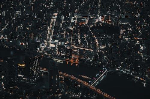 商業, 城市, 城市的燈光, 夜燈 的 免費圖庫相片