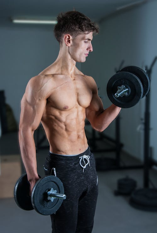 Man Lifting Dumbells