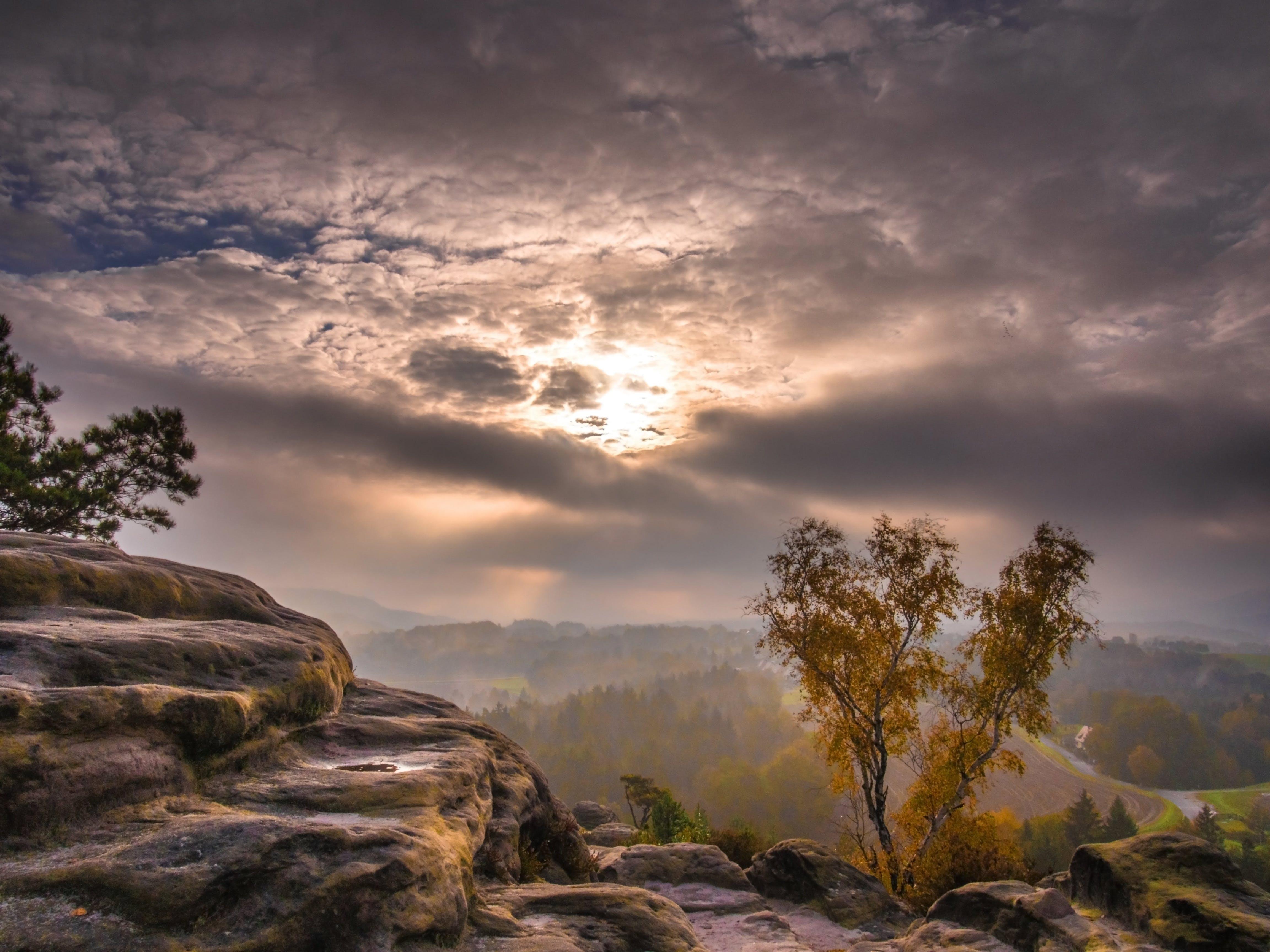 Free stock photo of landscape, mountains, sun, hiking
