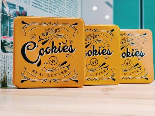 Ingyenes stockfotó csokis keksz, doboz, kávézó, pékáru témában