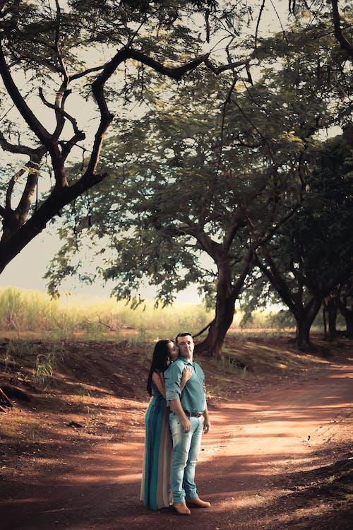 Fotos de stock gratuitas de abrazando, adulto, amor, arboles