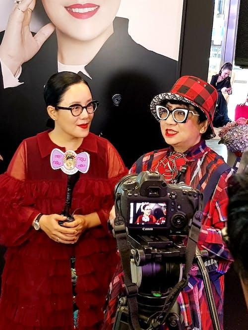 빨간, 인터뷰, 촬영, 패션의 무료 스톡 사진