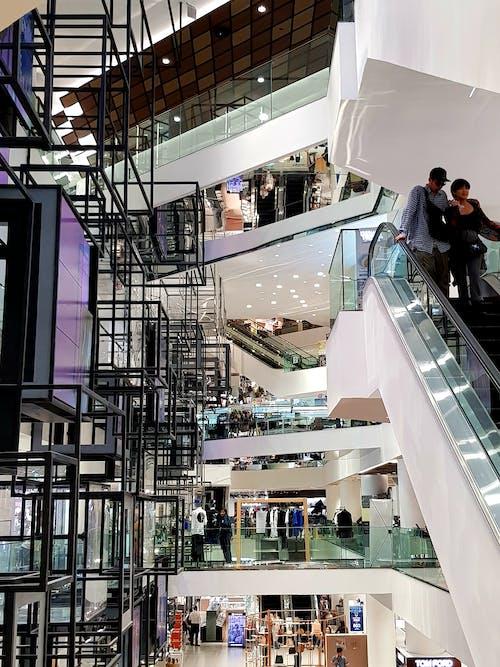 쇼핑몰, 현대 건축의 무료 스톡 사진
