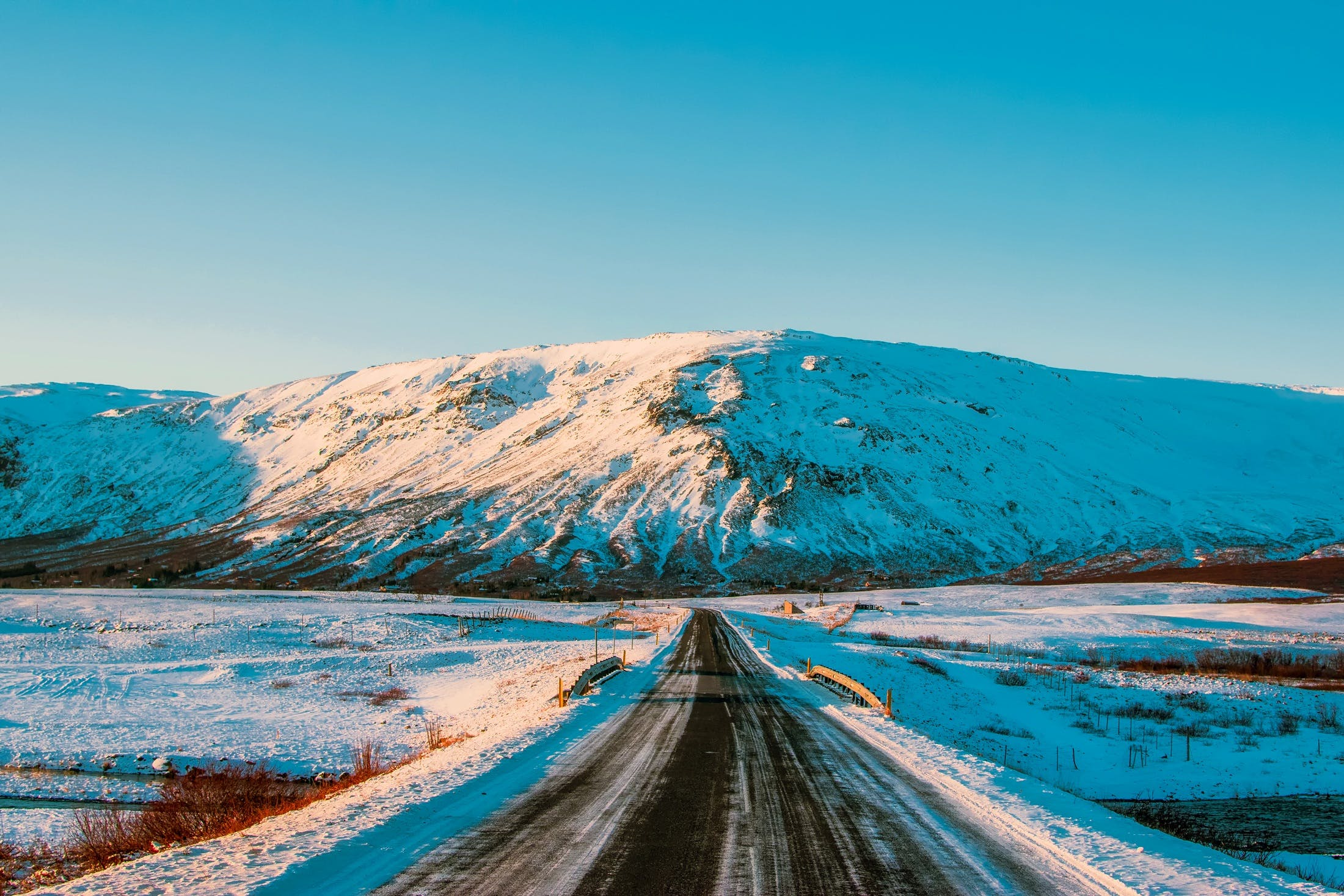 Black Trail Towards Mountain