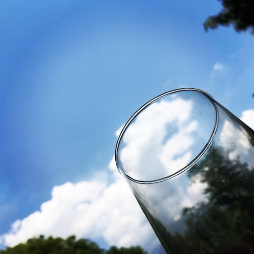 Free stock photo of clouds in my glass
