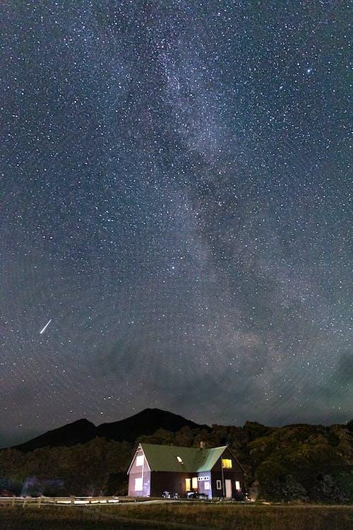 Ilmainen kuvapankkikuva tunnisteilla linnunrata, putoavat tähdet, tähdet