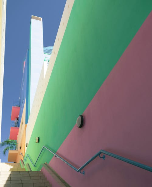 Multicolored Building Wall