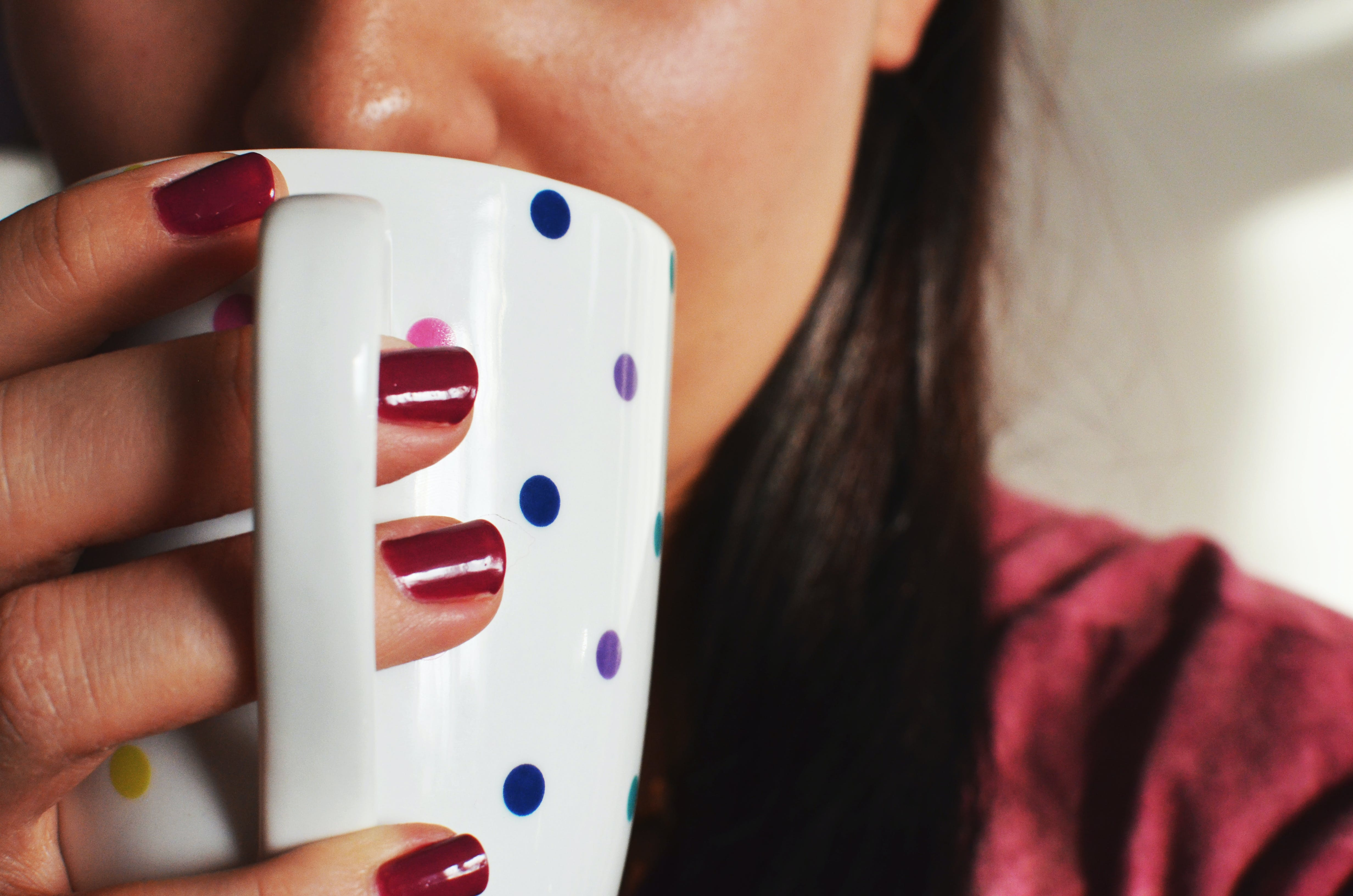 Free stock photo of woman, coffee, cup, mug