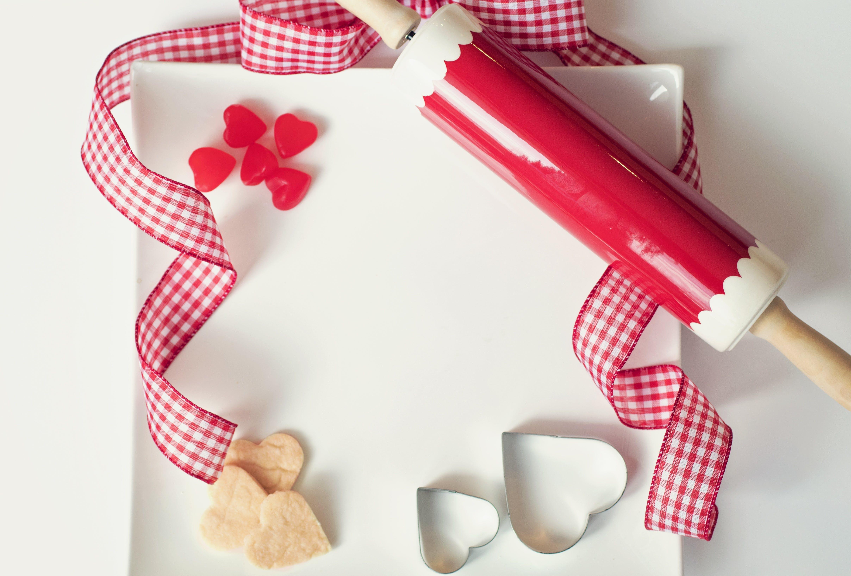 Free stock photo of baking, February, heart, heart cookies
