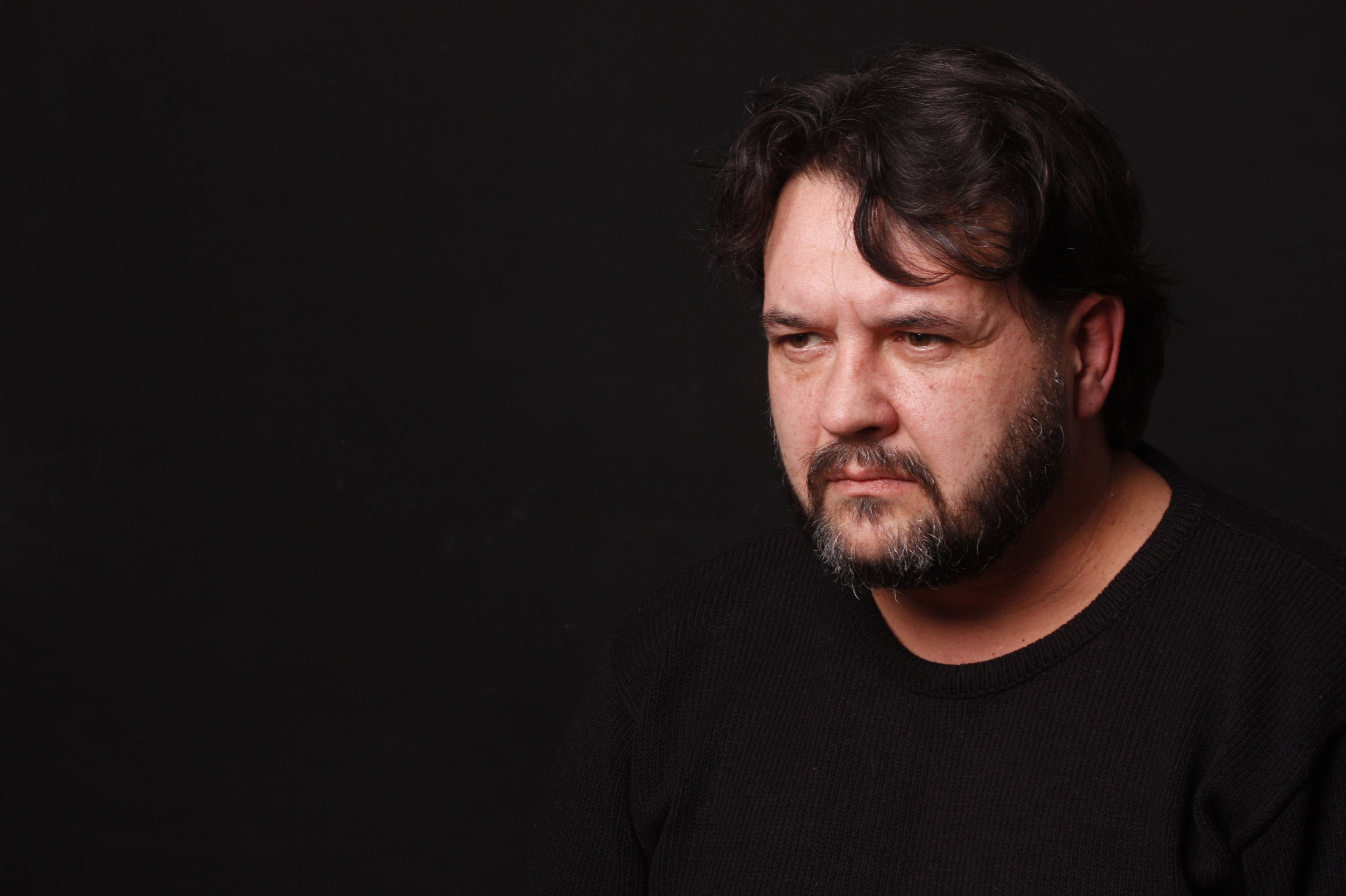 Free stock photo of beard, black background, confident, dark