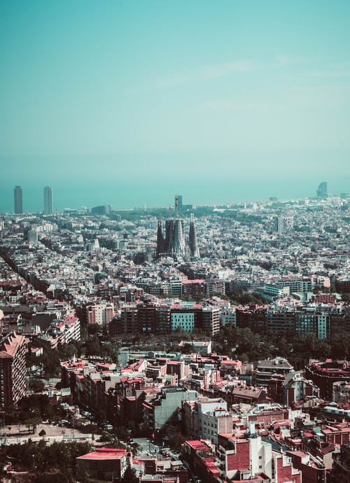 Free stock photo of barcelona, bright, city, horizon