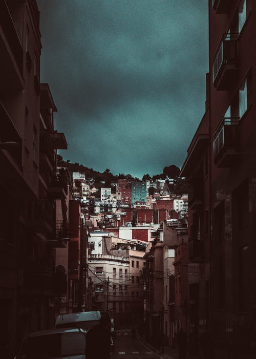 Free stock photo of barcelona, city, clouds, dark