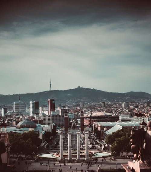 Free stock photo of barcelona, city, dark, fog