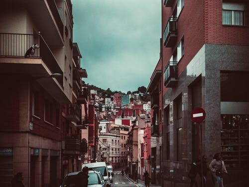 Free stock photo of balcony, barcelona, cars, city