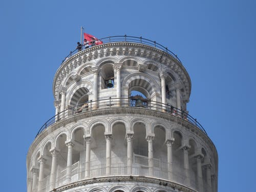 Δωρεάν στοκ φωτογραφιών με κεκλιμένος πύργος της Πίζας, κορυφή του πύργου