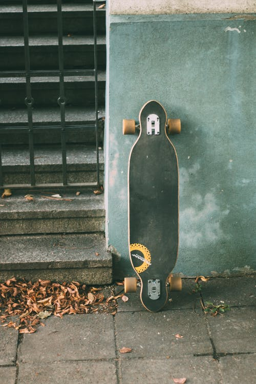 Photo of Black and Beige Longboard