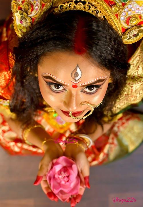 Základová fotografie zdarma na téma durga make-up, móda, ragazza