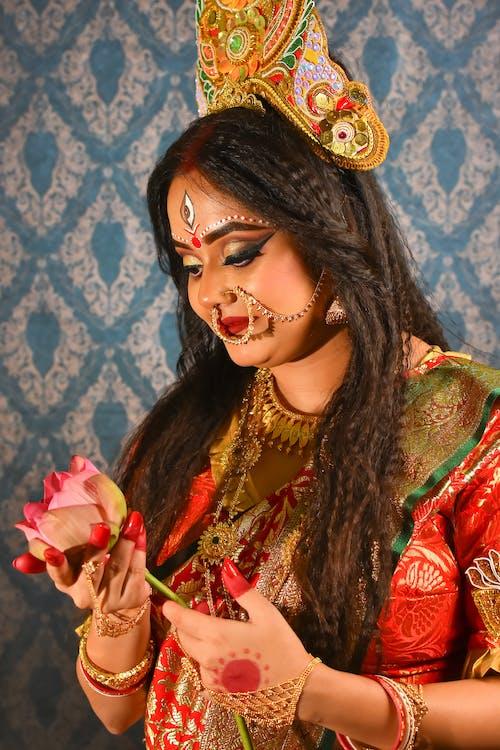 Základová fotografie zdarma na téma durga make-up, fashion modelka, ragazza