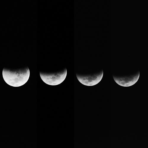 月, 月光, 月面の無料の写真素材