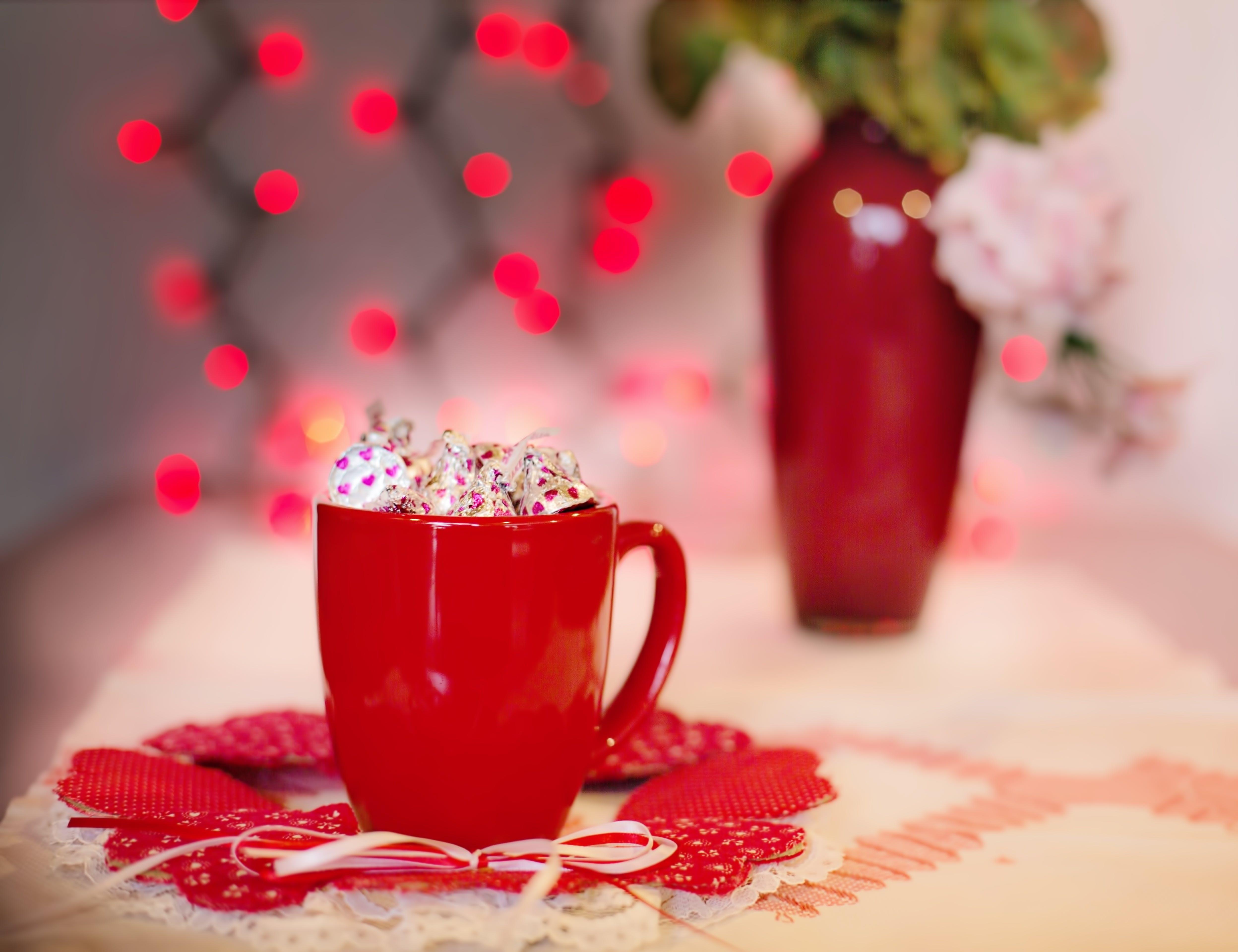 Free stock photo of holiday, red, love, mug