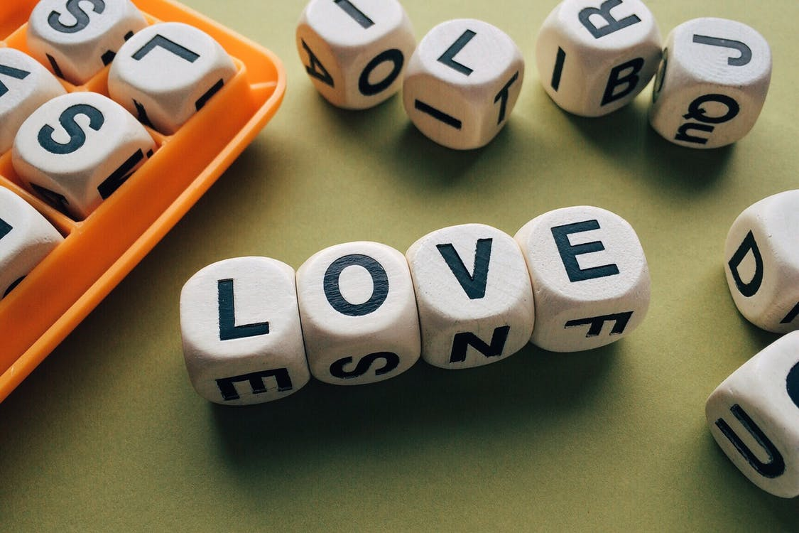 Love Scrabble Piece