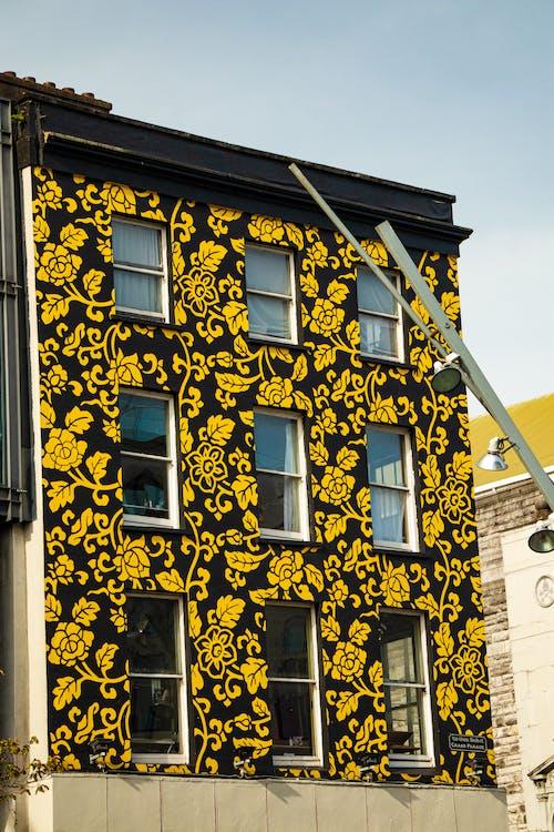 Foto profissional grátis de amarelo, amarelo dourado, casa, casa amarela
