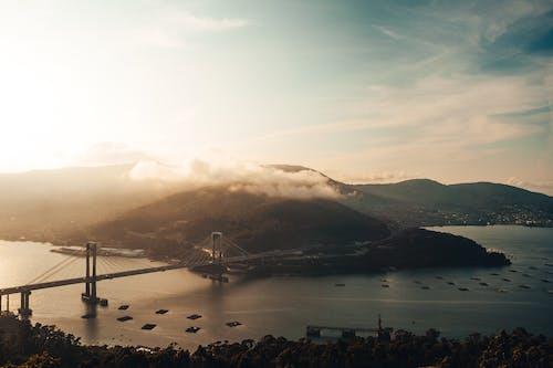 Darmowe zdjęcie z galerii z chmury, dron, dym, film z drona