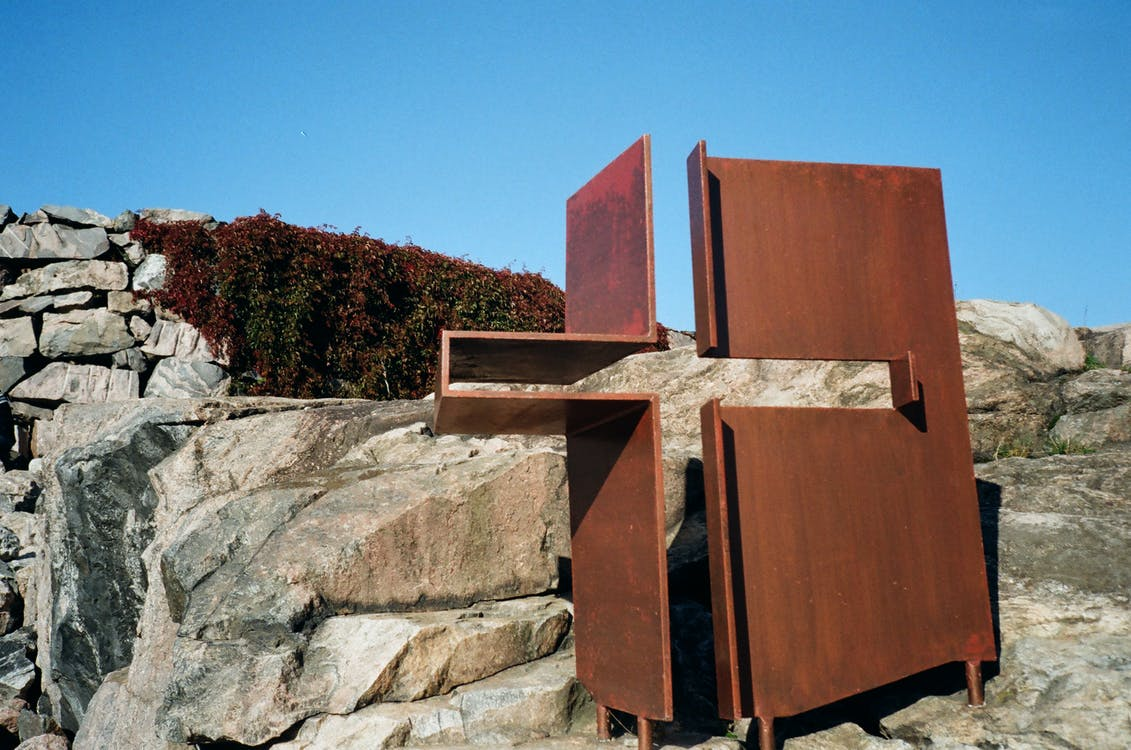 Architectural Photography of Brown Wooden Art