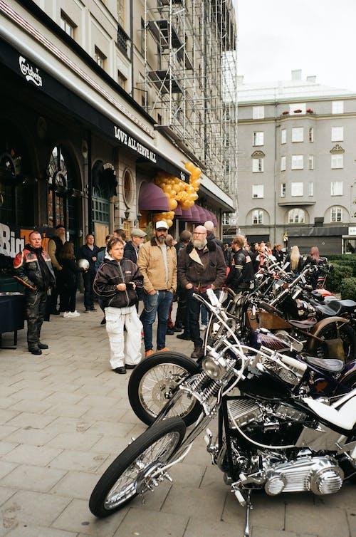 Gratis stockfoto met gozers, mensen, motorfietsen, transportsysteem