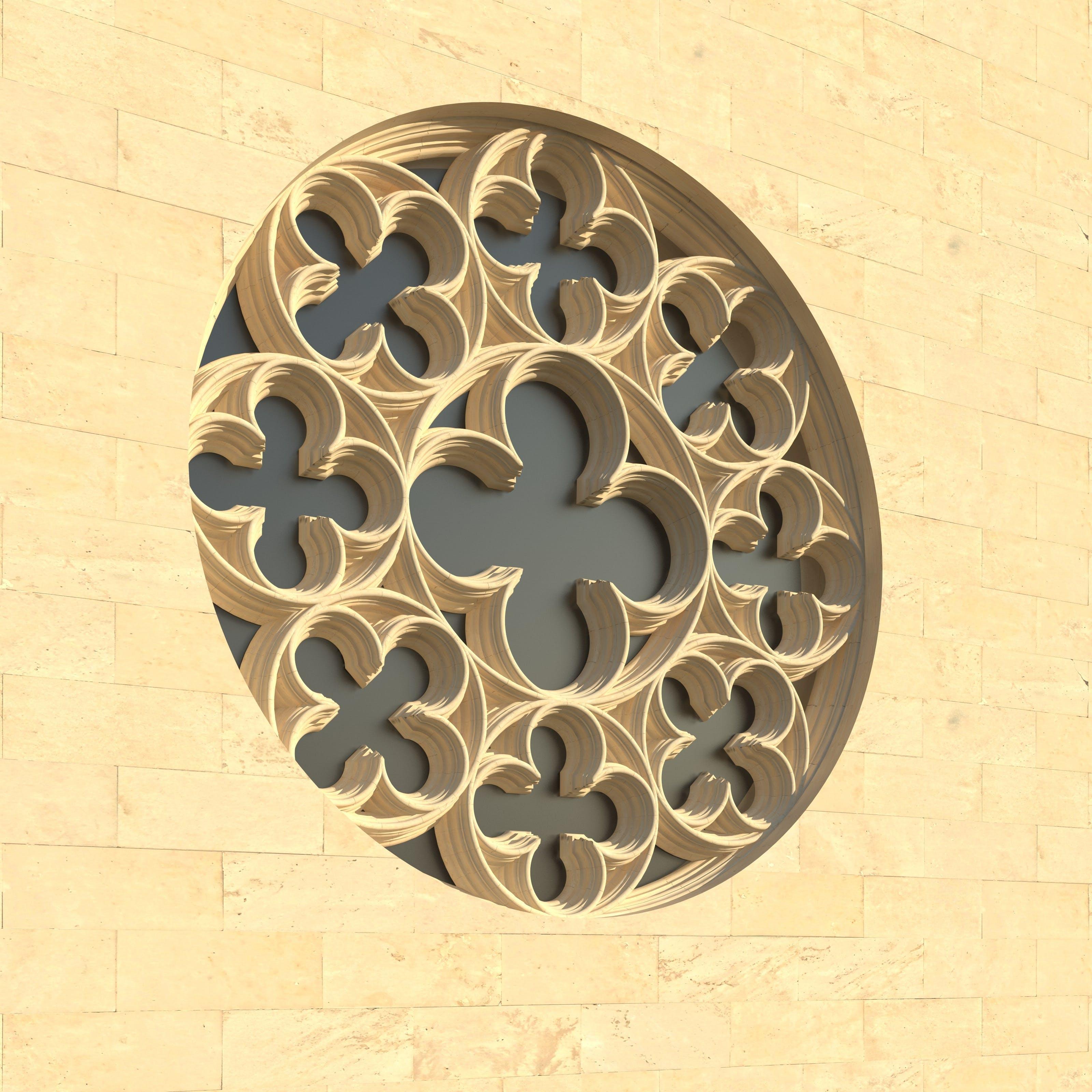 Free stock photo of architecture, window, church window, rosette