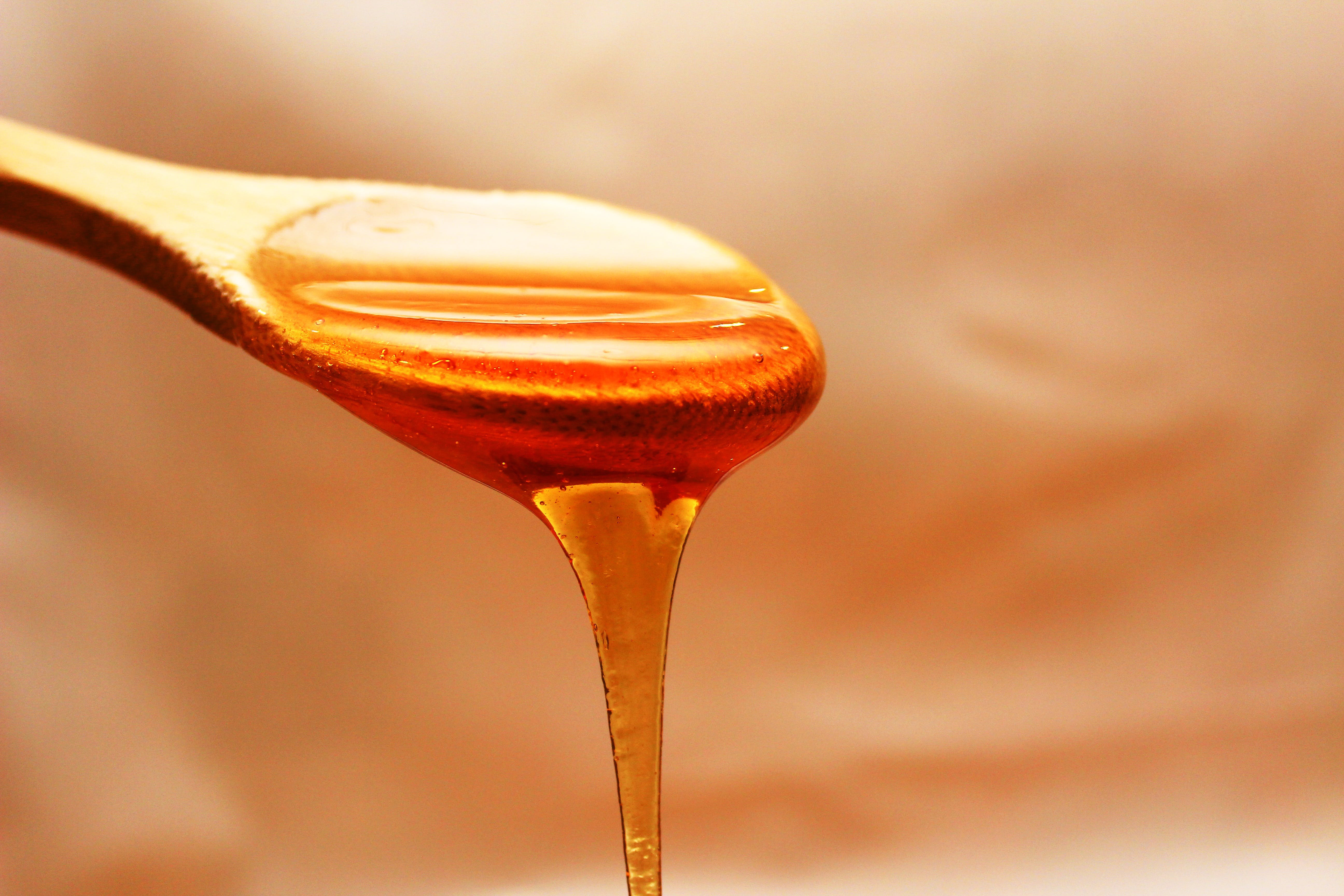 Brown Wooden Spoon With Honey
