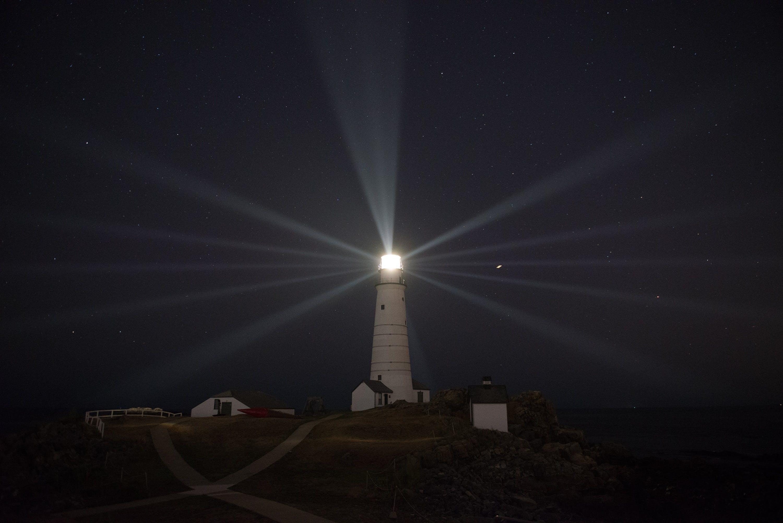 Free stock photo of light, landmark, night, ocean