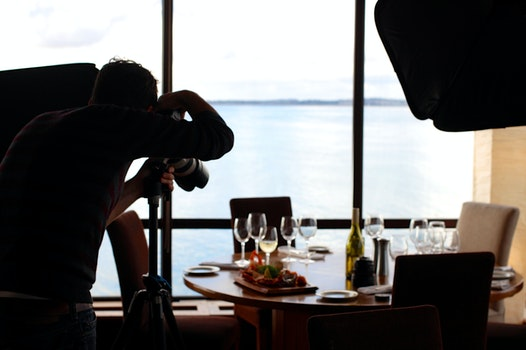 Free stock photo of food, restaurant, camera, taking photo