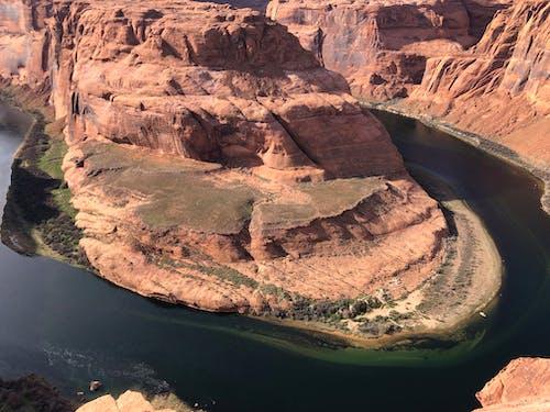 Foto profissional grátis de cânion entalhado, horseshoe bend, rochas vermelhas