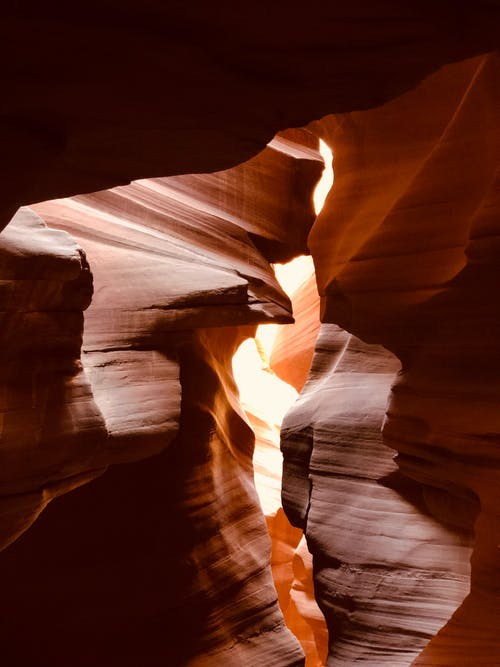Free stock photo of red rocks, slot canyon